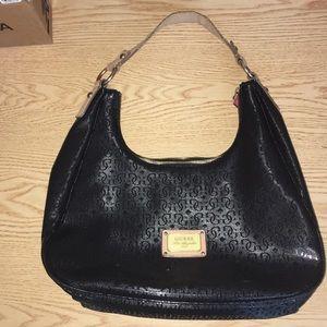 Guess Handbag/Purse Black 4 Pockets Animal Print